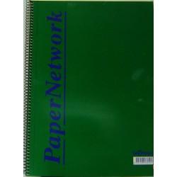 რვეული A4 ფორმატის ცალხაზიანი 120 ფურცლიანი (F) 430541